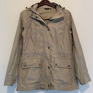 Beige lightweight Barbour coat